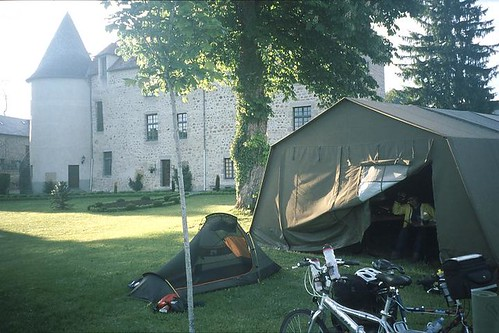 Camping du Chateau de la Mothe in Merinchal. It only has 12 pitches, so very small, but we were the only ones there in late May. Merinchal really is in the middle of nowhere. Photo: Stephen Fox