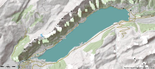 Brienzersee hiking map using SRTM3 DEM