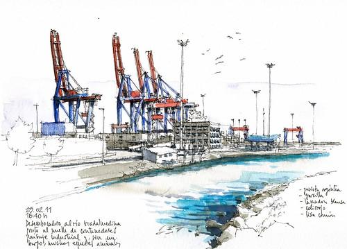 Málaga, container dock
