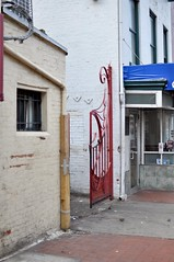 Red Gate (inetnasshadow) Tags: city morning winter urban dc chintown