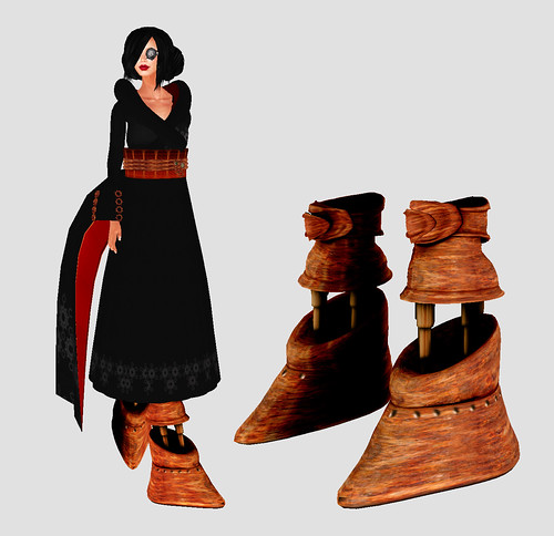 steampunk kimono and hydraulic boots