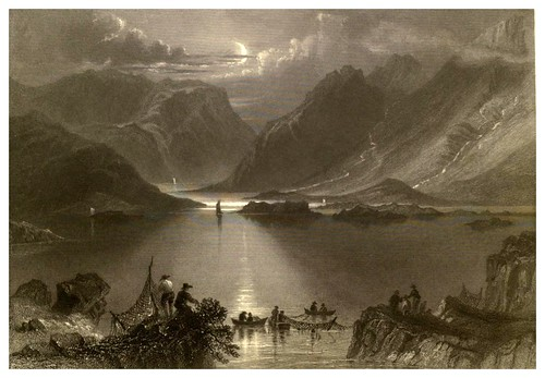 020-Colinas de Killeries en Connemara-The scenery and antiquities of Ireland -Vol II-1842-W. H. Bartlett