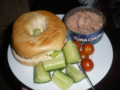 Bagel and tuna
