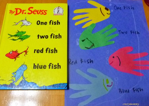 Dr Seuss craft : One Fish, Two Fish, Red Fish, Blue Fish craft
