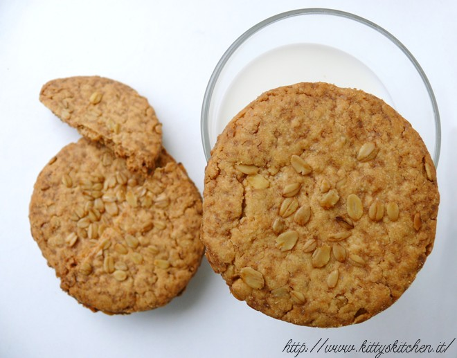 Biscotti integrali ai fiocchi d'avena