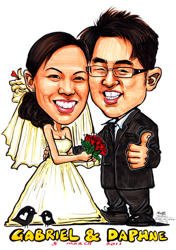 wedding couple caricatures 13022011