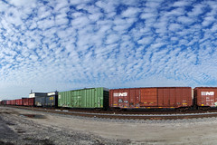 speechless... (TRUE 2 DEATH) Tags: railroad sky autostitch panorama streetart art clouds train graffiti pano tag graf traintracks trains panoramic railcar spraypaint boxcar railways stitched railfan freight trainyard freighttrain autostitched rollingstock autopano  stitchedpanorama autopanopro benching freighttraingraffiti