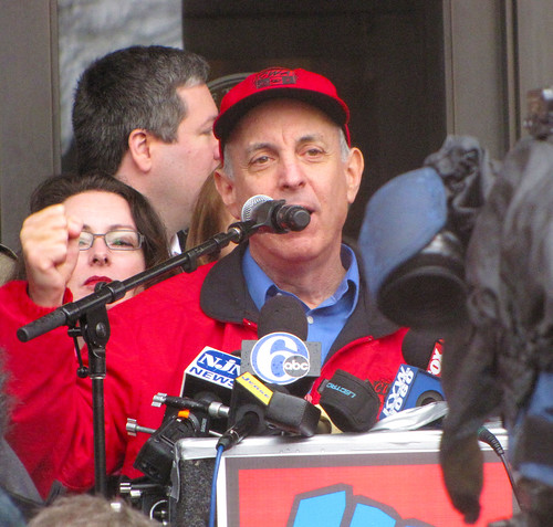 Larry Cohen at a NJ Rally