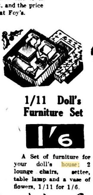 1934 Dolls furniture set 1