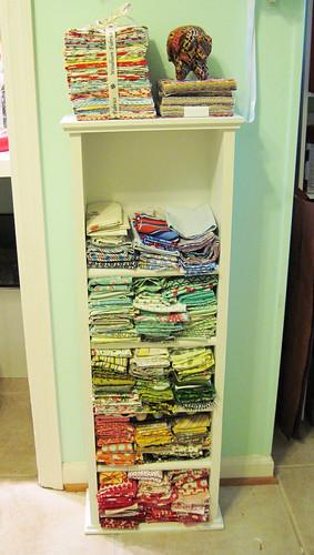 organized fat quarters...finally