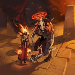 demonsandhellishghouls (kielbasa_w) Tags: painting character hellish satanic demons ghouls