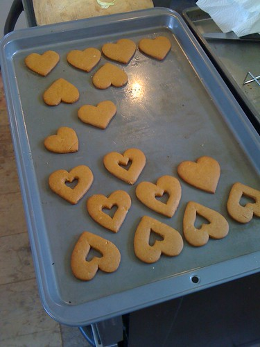 super spicy ginger valentine cookies