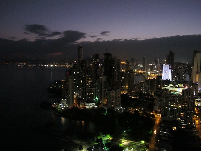 early evening in Panama City, Panamá