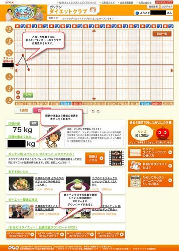 NHK「ダイエットクラブ」ユーザページ