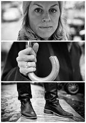 Triptychs of Strangers #9: The German - Paris (adde adesokan) Tags: street travel bridge portrait blackandwhite bw white black paris france hat fashion pen umbrella bag deutschland photography frankreich shoes triptych boots bokeh strasse voigtlander voigtlaender streetphotography bob olympus stranger montmartre portrt puzzle sw augen schwarzweiss weiss schuhe schwarz mtze voigtlnder deutsch 25mm triptic ep1 tryptic haare triptychs f095 stiefel regenschirm streetphotographer m43 triptychon mft mirrorless triptychons germanygerman microfourthirds theblackstar mirrorlesscamera streettogs triptychonsofstrangers triptychsofstrangers