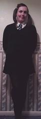 Hermione's a (very) cheeky schoolgirl (hermionesimpson) Tags: white black costume uniform cd tie tights skirt crossdressing blouse tgirl transgender jumper schoolgirl transgendered crossdresser crossdress ts schooluniform tg transsexual