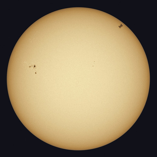 Sun and ISS