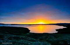 Midnight sun at Myvatn (B-side) (@PAkDocK / www.pakdock.com) Tags: ocean trip travel light sunset sea summer panorama naturaleza sun lake plant cold reflection art tourism luz sol window nature water june sunrise landscape geotagged lago outdoors vent photography lava iceland islandia rainbow dock agua nikon scenery exposure mood power view dynamic farm south country north paisaje running lagoon steam amanecer midnight geology gps paysage landschaft artic minimalist breathtaking vapor midges myvatn sland midnightsun pak icelandic volcan northernmost magiclight d90 medianoche lveldi pakdock