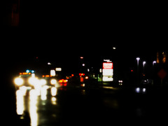 Rainy Night Traffic (jomak14) Tags: canon bokeh busstop manualfocus picnik selectivefocus eos1ds tiltshift hss 2011 willowgrovepa route611 ortonish madeinukraine russianmade eastonrd photex80mmf28stlens