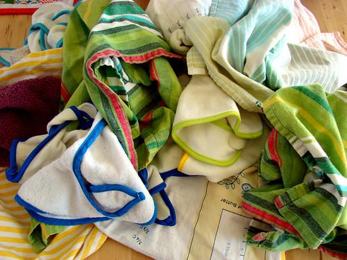 10:00 - folding towels & bibs