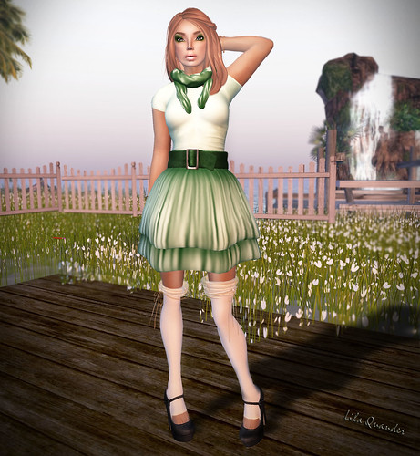IZZIE'S Think Green Spring Outfit (Green Top) TOSL