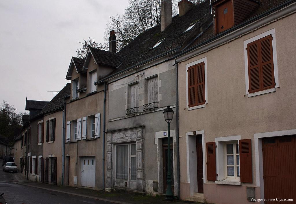 Une rue banale dans la ville du Blanc