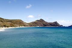 Penedo (Bernardo SF) Tags: ocean blue sea sun praia beach portugal yellow canon island islands mar waves atlantic bleu madeira atlanticocean ondas portosanto oceanoatlantico portugalilustrado