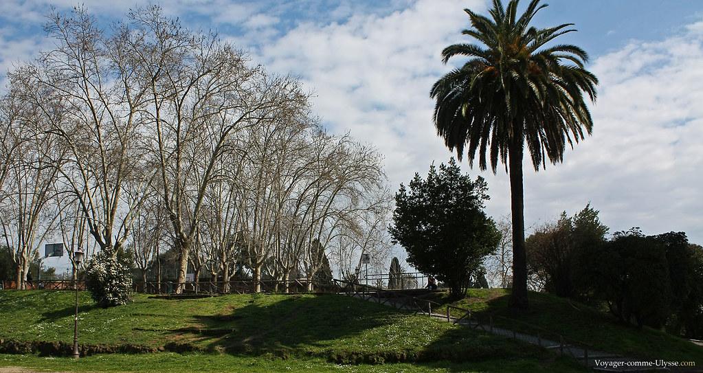 Le Parco Oppio est tout proche du Colisée