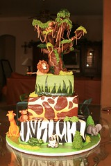 "Safari baby shower cake • <a style=""font-size:0.8em;"" href=""http://www.flickr.com/photos/60584691@N02/5524763463/"" target=""_blank"">View on Flickr</a>"