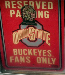 Buckeye Fans Parking Sign (Photo Nut 2011) Tags: ohio bluffton allencounty