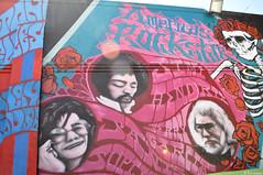 Rockstars (Flor Gojman) Tags: sanfrancisco california flowers usa streetart flores wall skeleton pared skull calle nikon fair esqueleto draw dibujo 2010 calavera janisjoplin jimmyhendrix artecallejero d90 hightstreet nikond90