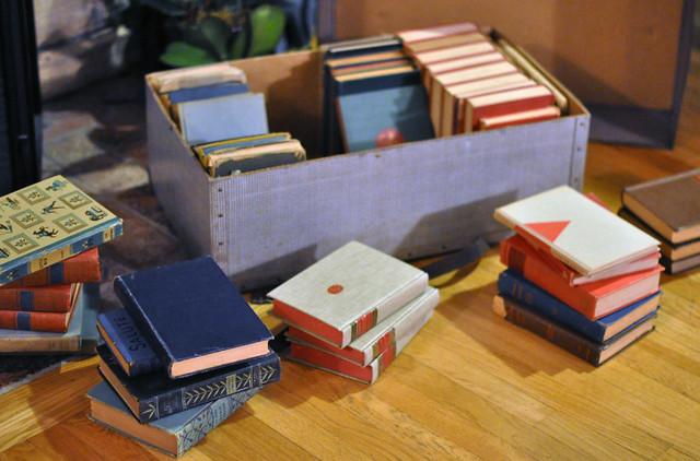 vintage books in a vintage suitcase, DSC_0323