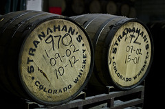 Whiskey Barrels (Beertographer) Tags: wood nikon colorado barrels denver aged distillery stranahan 35mmf18 rackhouse d7000 stranahanswhiskey
