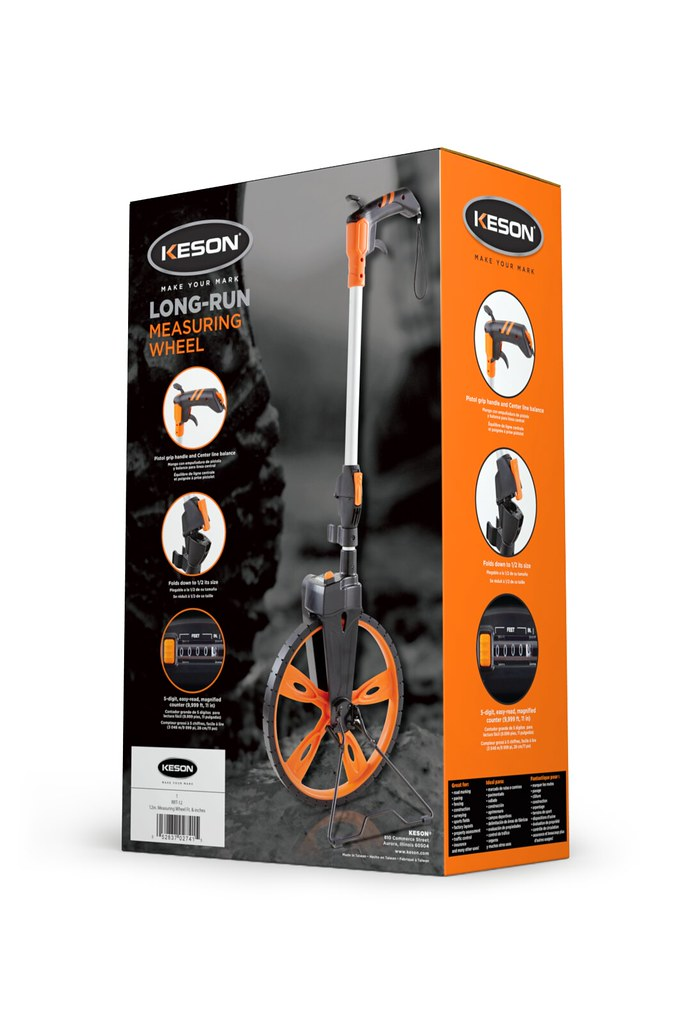 Keson Long Run Measuring Wheel - Back