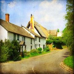 coton village (And Soon the Darkness) Tags: road uk trees summer england texture square village cottage northamptonshire coton squareformat platinumheartaward magicunicornverybest