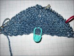 Blue Whale Shawl, in progress