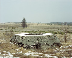 Concrete structure in the fields. (wojszyca) Tags: new bw history mamiya station mediumformat concrete kodak poland structure worldwarii german 400 epson 6x7 portra radar gossen rz67 4990 110mm 81a lunaprosbc