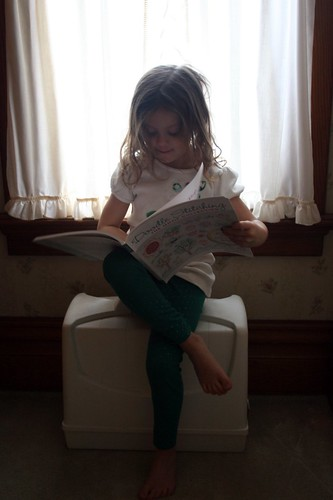 reading in window light