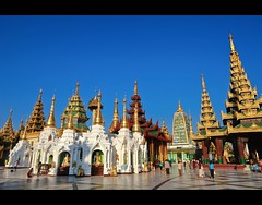 Spires on Blue | Shwedagon Paya  | Yangon (I Prahin | www.southeastasia-images.com) Tags: blue architecture bells diamonds temple gold golden pagoda raw spires buddha yangon burma stupa buddhist special monks myanmar paya spiritual 1022mm relics gleaming rangoon buddhists superaplus aplusphoto canon550d gettyimagessoutheastasiaq1
