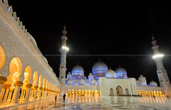 Sheikh Zayed Mosque at night. Abu Dhabi, United Arab Emirates (azahar photography) Tags: united palace sky zayed mosque middle abu illumination religious worship islam pillars dhabi religion uae moorish arab lights east minaret columns hallway nobody illuminated dusk cupola muslim sheikh islamic emirates middleeast horizontal arch archway nighttime architecture night marble azaharphotography