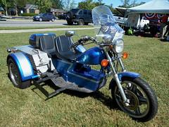 1970 Volkswagen/Honda Trike (splattergraphics) Tags: 1970 volkswagen honda trike motorcycle custom volksrod carshow chesapeakeclassiccarclub eastonmd