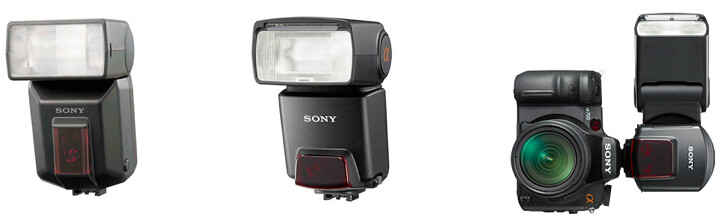 Sony HVL-F36AM, HVL-F42AM and HVL-F58AM flash units, as mentioned in the Sony A55 Manual