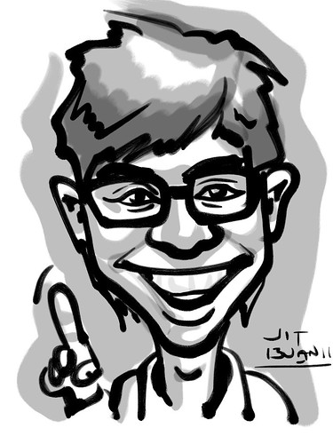 Ipad digital caricature live sketching for AES Sports Showdown - 2