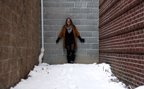 I love the cozy factor that giant snow boots and an oversized cardigan lend