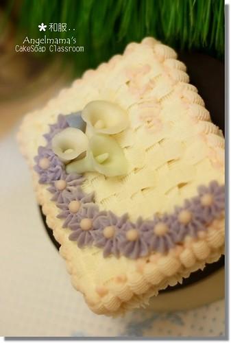 天使媽媽蛋糕皂教學和服2