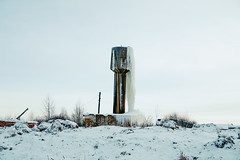 (dSavin) Tags: winter snow tower ice water ecology village cloudy russia bricks watertower plumbing icicle excellent civilization abc hay wtf pressure dangling icicles slope billet bottomup breakage leakage  2011   mismanagement        kolkhoz            financesaresinginglovesongs     alargeicicle singballads
