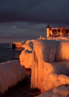Ice at Point Betsie.   Explored #16