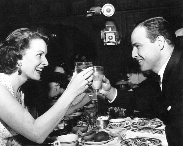 Maureen O'Hara and Marlon Brando