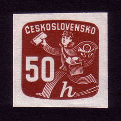 Newspaper delivery boy (oliver.tomas) Tags: print czech newspapers ephemera 1940s letterpress 1945 czechoslovakia slovak ceskoslovensko newspaperstamps