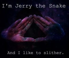 Jerry the Snake. 24/365 (kateuhlinnnn) Tags: girl stars hands triangle snake space text jerry hipster des nebula nate slither destry youtube desandnate